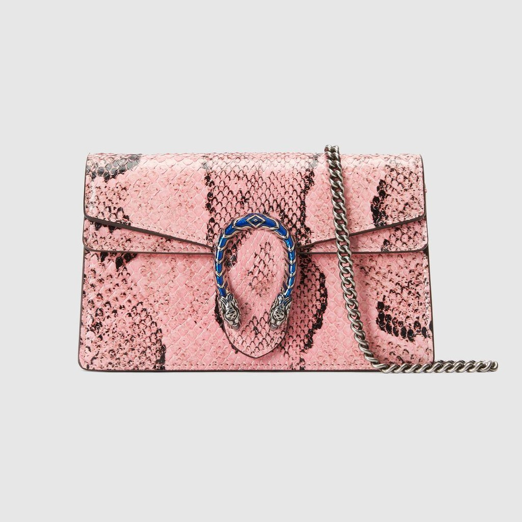 Gucci / New / Dionysus series python leather super mini handbag / light pink python leather / Authentic 100% / 16.5-20CM