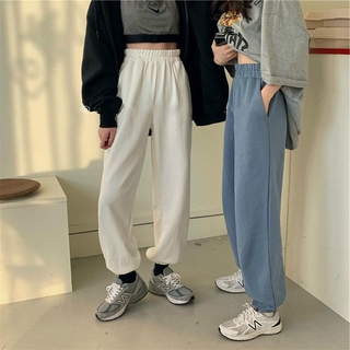 Review Sweatpants women track pants solid loose casual trousers Ankle tied pants