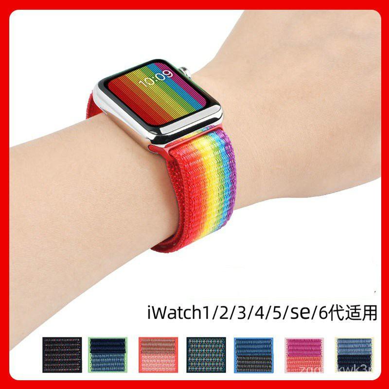 สายนาฬิกา watch สาย applewatch แท้ สายแอปเปิ้ลวอช  Applewatch แอปเปิ้ลแอปเปิ้ลสายนาฬิกานาฬิกาSE ไนล่อนยักษ์แกว่งiwatch6/