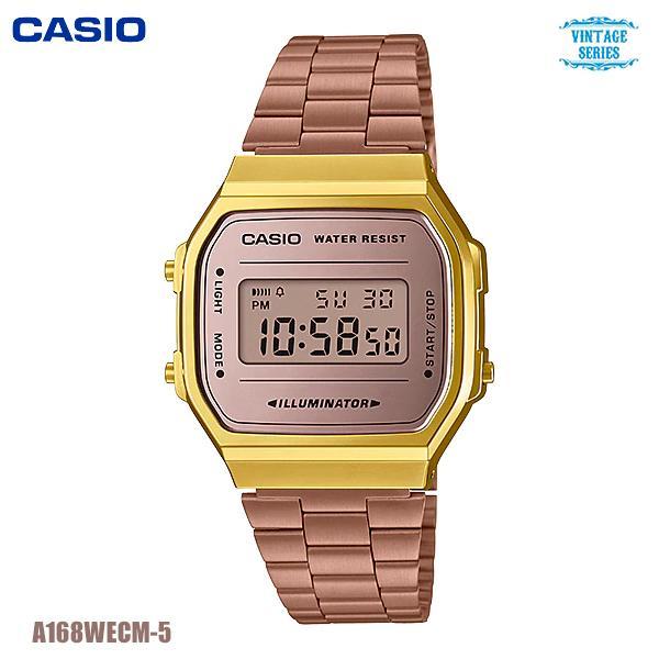 Watchup นาฬิกา CASIO Standard นาฬิกาข้อมือ สายสแตนเลส รุ่น A168WECM-5 whoN