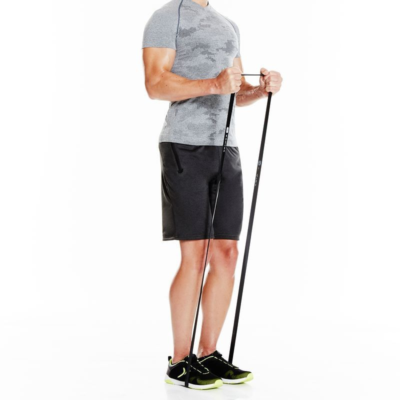 ยางยืดออกกำลังกาย  ฟิตเนส แรงต้านน้ำหนัก 5-60 กก. Domyos แท้ผ้ายืดออกกำลังกาย ยางยืดแรงต้าน  ยางยืดออกกำลังกายแรงต้านสูง