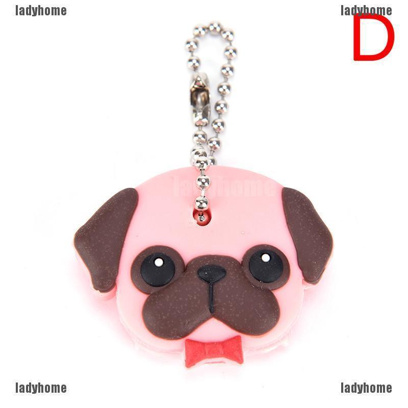 Pug dog pink crystal clip on charm
