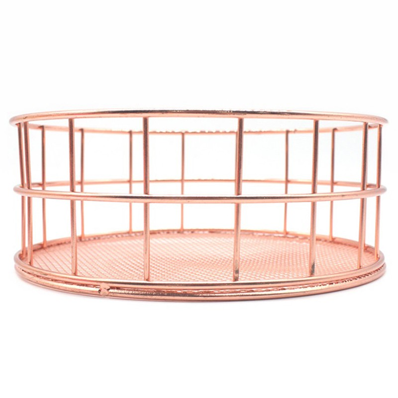 Nordic Style Rose Gold Iron Sundries Storage Tray Zjt Shopee
