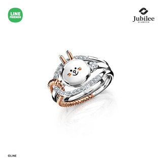 JUBILEE DIAMOND TRUE LOVE JACKET DIAMOND RING+SWEET DIAMOND RING: CONY [รุ่น LINE FRIENDS ลิขสิทธิ์แท้]