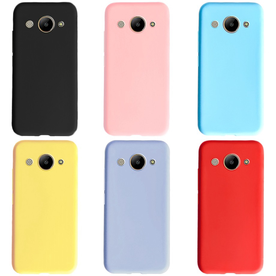 เคสโทรศัพท์ซิลิโคนแบบนุ่ม huawei y 3 2017 huawei y3 2018 cro - l 22 สีแคนดี้