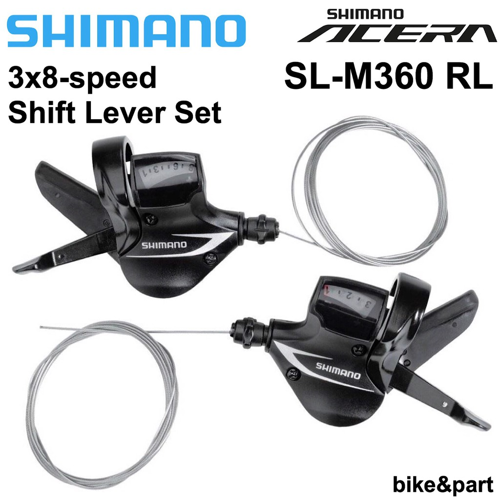 SHIMANO SL-M360 ACERA RAPID FIRE 3-SPEED FRONT BLACK BICYCLE SHIFTER