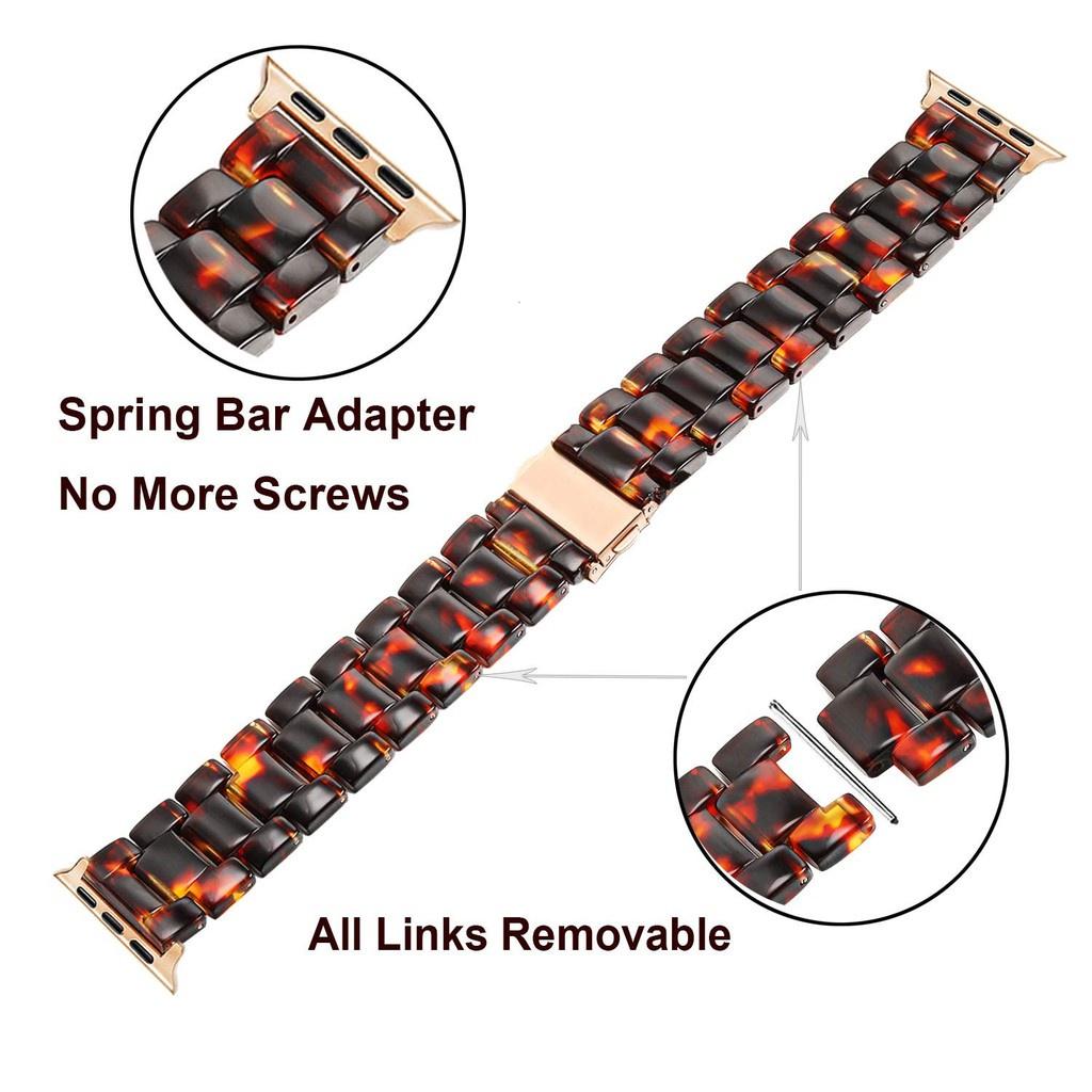 ┇สายนาฬิกา Apple Watch Resin Straps เรซิน สาย Applewatch Series 6 5 4 3 2 1,  Apple Watch SE Stainless Steel สายนาฬิกาข้