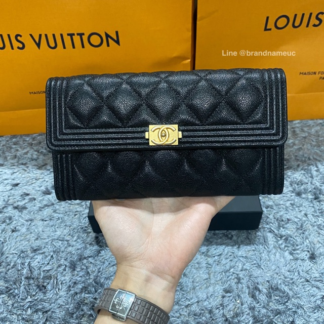 Chanel boy long wallet holo 26