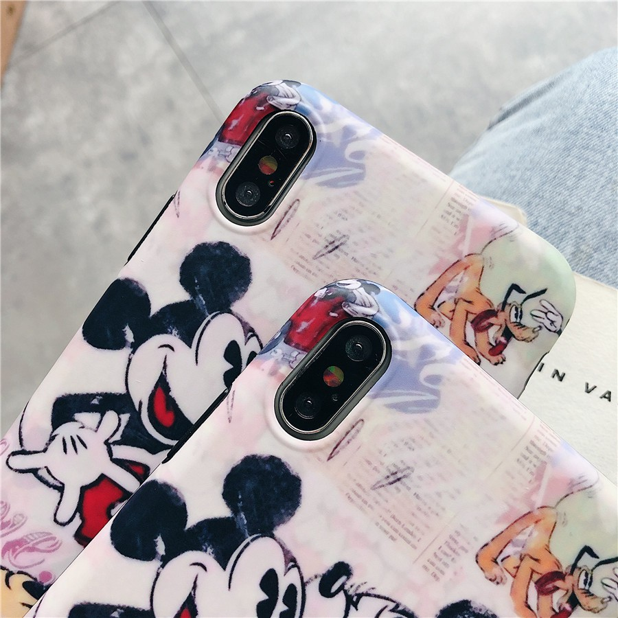 Image # 4 of Review เคสไอโฟน iPhone X XS Max XR iPhone 7 8 Plus iPhone 6 6S Plus Cartoon Mickey & Minnie Matte Soft Case