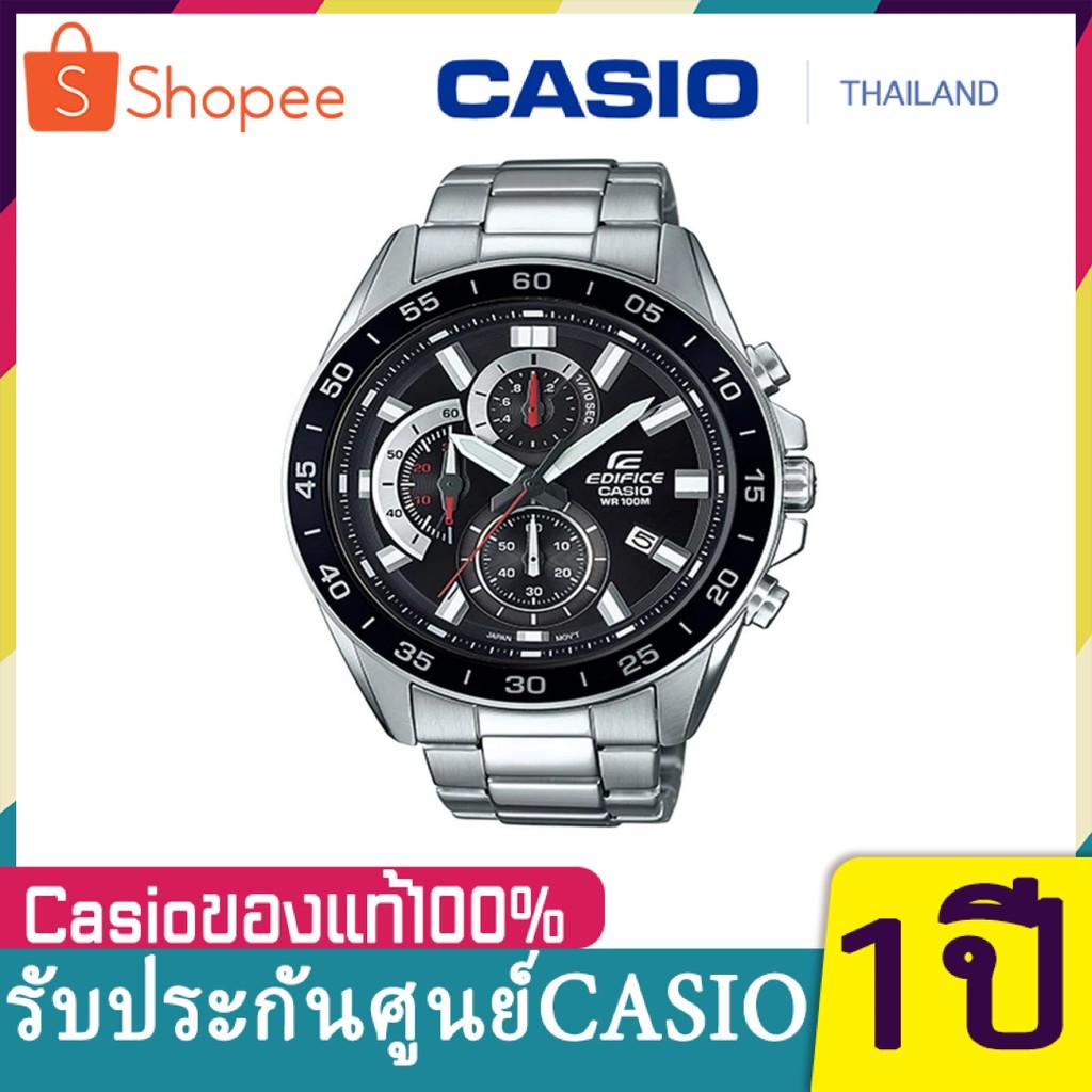 Casio Edifice นาฬิกาข้อมือผู้ชาย สายสแตนเลส รุ่น EFV-550D-1A,EFV-550D-1A - สีเงิน