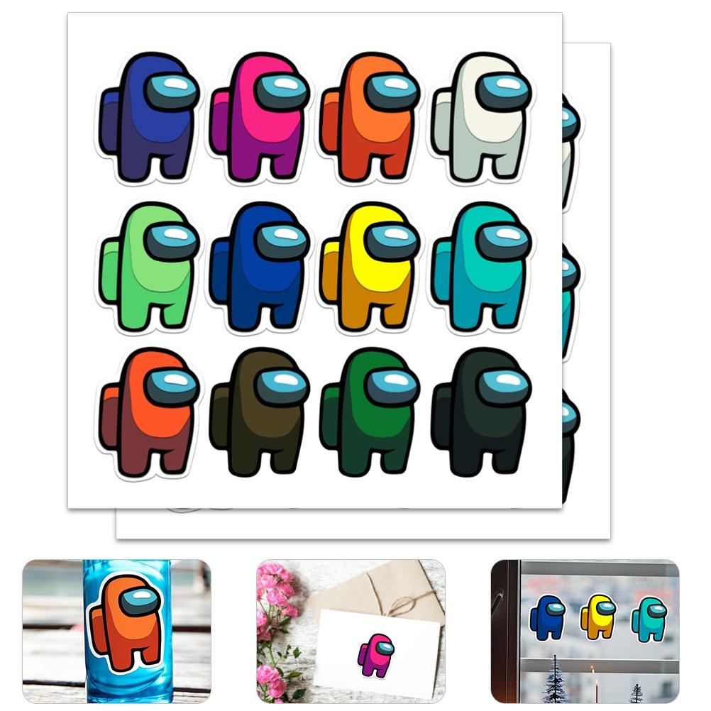 สติ๊กเกอร์เกม สติ๊กเกอร์การ์ตูนสำหรับเด็ก ความปลอดภัย เกมปลอดสารพิษ สติ๊กเกอร์อนิเมะสำหรับโน้ตบุ๊ก กระเป๋าเดินทาง กีต้าร์