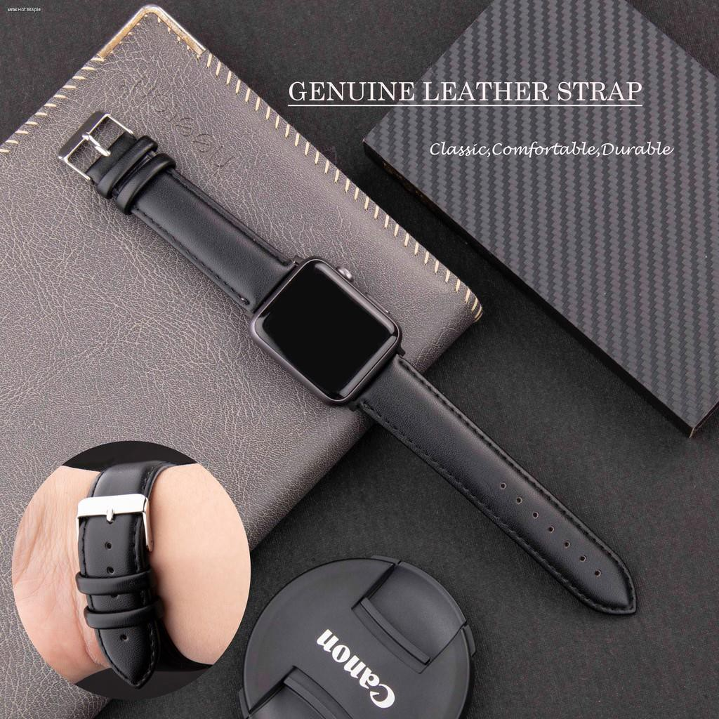 applewatch series 6 5 4 3 2 1 SE สายนาฬิกา 44mm 40mm 42mm 38mm Leather Watch Band Strap for iWatch