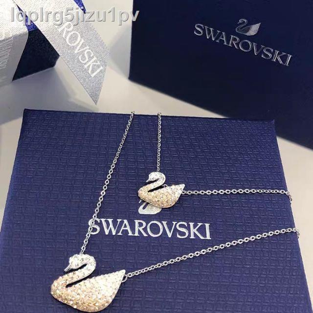 เครื่องประดับแฟชั่น❄✹♂【 SALE 】พร้อมส่ง Swarovski แท้สร้อยคอ ของแท้ของแท้ 100% สร้อยคอจี้หงส์สร้อยคอ แท้ Classic Swan