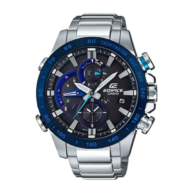 Casio Edifice นาฬิกาข้อมือผู้ชาย สายสแตนเลส รุ่น EQB-800DB-1A - สีเงิน