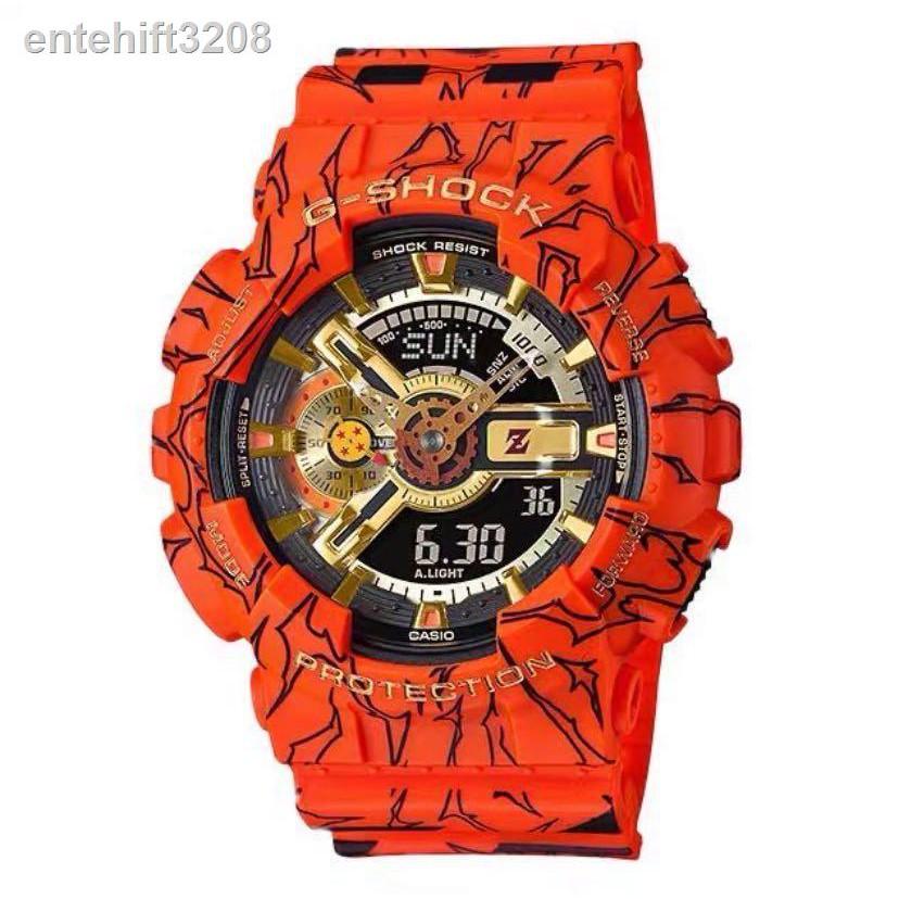 💌no 1👍℗CASIO G-SHOCK นาฬิกาข้อมือแฟชั่นในรูแบบ Dragon Ball รุ่น GA-110JOB-1A4 สุดฮิตในปี 2020 หน้าปัด 40mm พร้อมกล่อง