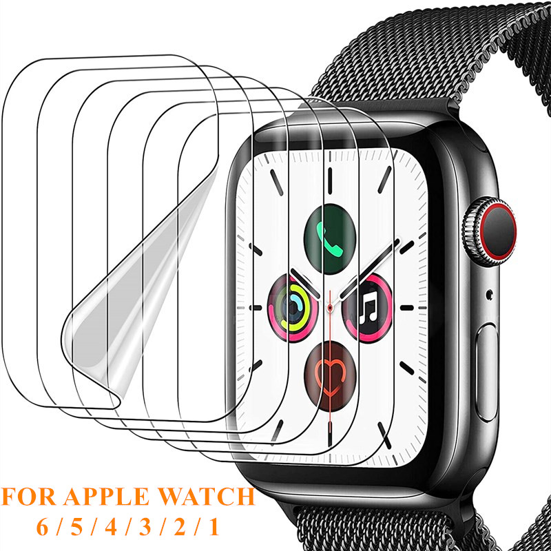 ฟิล์มกันรอยสำหรับ Apple Watch Iwatch 6 5 4 40 มม. 44 ไม่ใช่กระจกนิรภัยสำหรับ Apple Watch 3 2 38 42 สาย Applewatch Apple Watch Series นาฬิกาเด็กผู้หญิง นาฬิกาสมาร์ทวอทช์