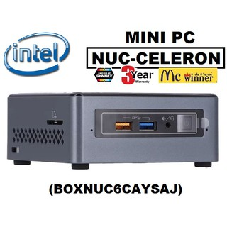 Review MINI PC (มินิพีซี) INTEL NUC-CELERON (BOXNUC6CAYSAJ) (J3455,RAM 2GB,DDR3,HD GRAPHICS,eMMc 32GB,WINDOWS10,Home 64BIT)-3ปี
