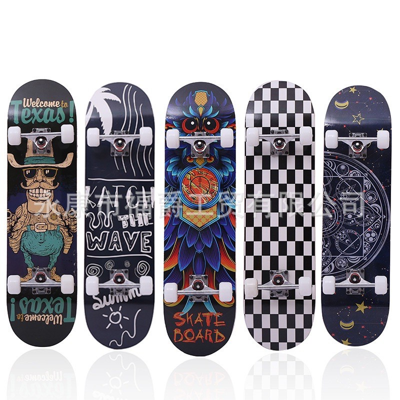 พร้อมส่ง‼️สเก็ตบอร์ดผู้ใหญ่80cm Skateboard สเก็ตบอร์ดแฟชั่น ส่งด่วน1-3วัน