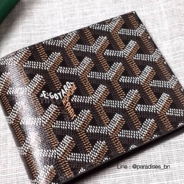New goyard wallet 8 cards black color