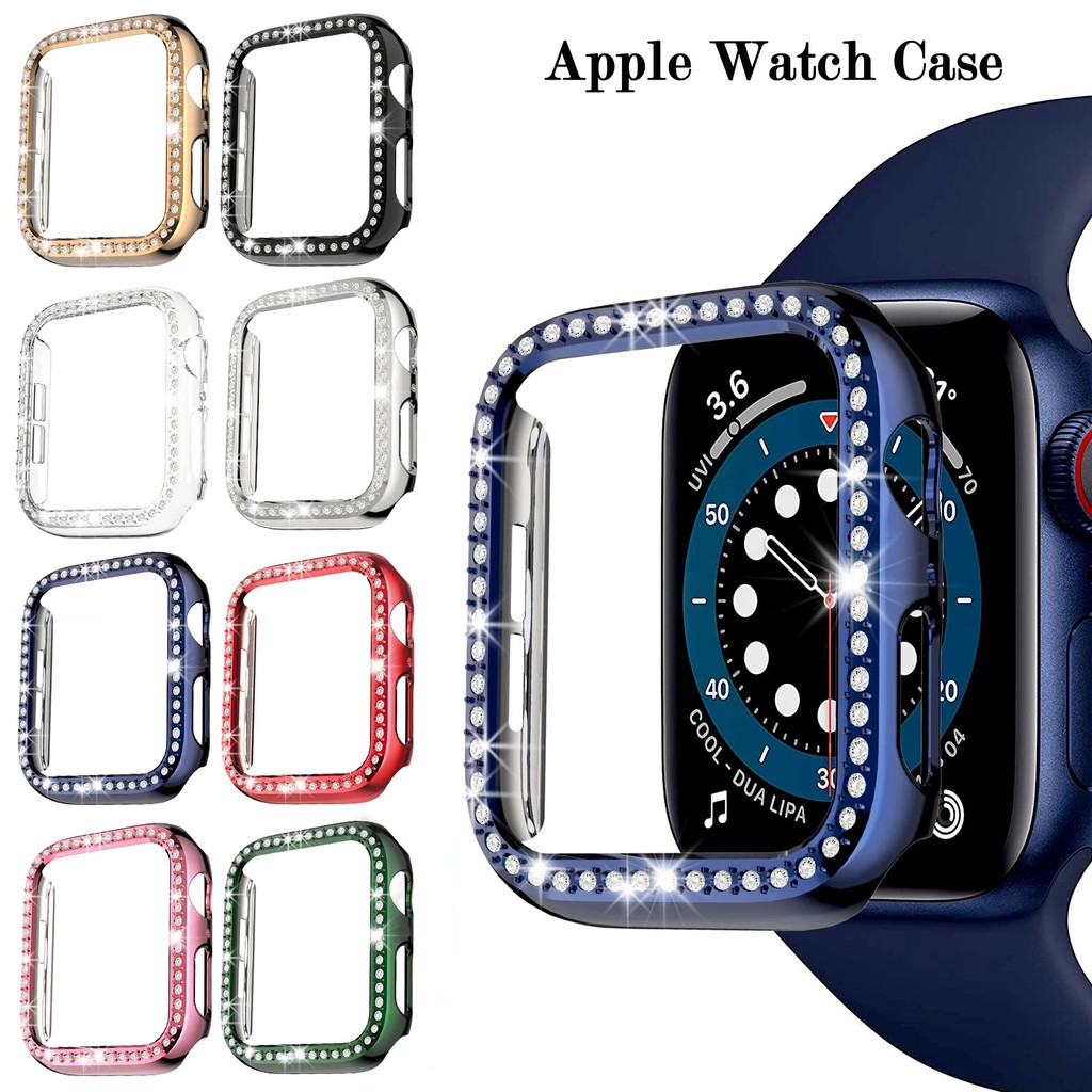 Apple Watch Case Diamond Plated Bumper Protective Case for Apple Watch Cover Series 6 SE 5 4 3 21 38MM 42MM 40MM 44MM iwatch Accessories