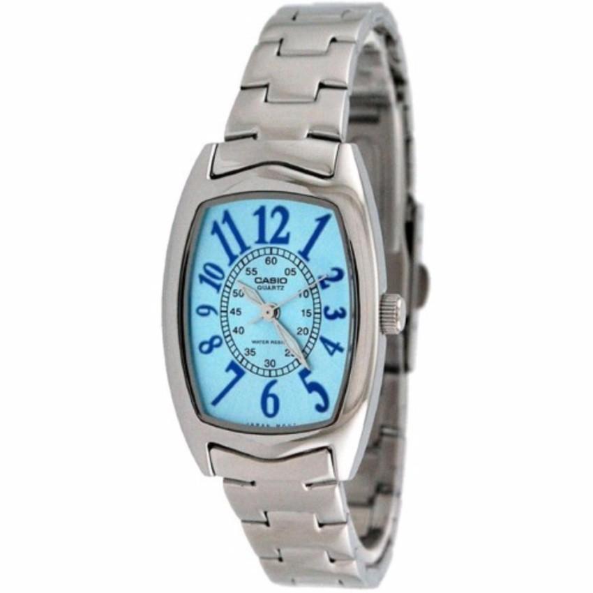 Casio นาฬิกาข้อมือผู้หญิง สายสแตนเลส รุ่น LTP-1208D-2B - Silver/Blue   รับประกันศูนย์ 1 ปี   ของแท้