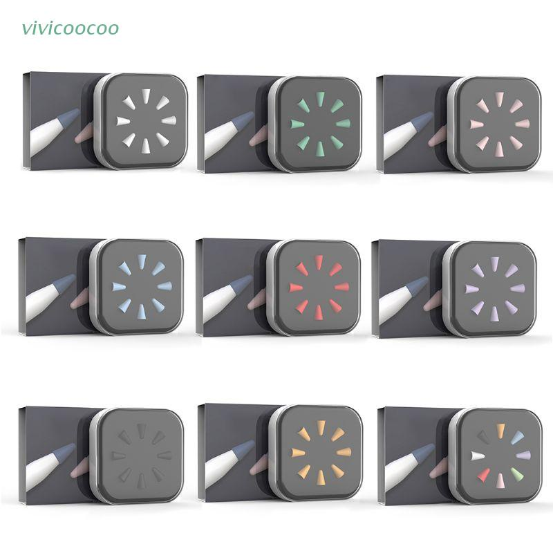 VIVI   8pcs Mute Silicone Replacement Tip Case Nib Cover Skin For Apple Pencil 1st 2nd Stylus Touchscreen Pen