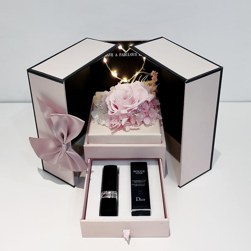 ❏⚘Dior Dior Lipstick 999 Matte Moisturizing Zhenghong 740 Gift Box Set Big Brand ของแท้ของขวัญวันเกิดดอกไม้นิรันดร์มาสคา