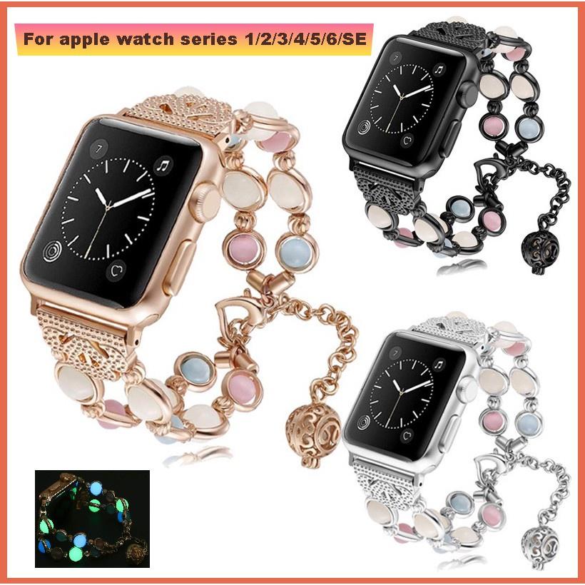 สาย applewatch สายนาฬิกา applewatch สาย apple watch strap iWatch series 6/SE/5/4/3/2/1 luminous bead band ขนาด 38มม 40มม