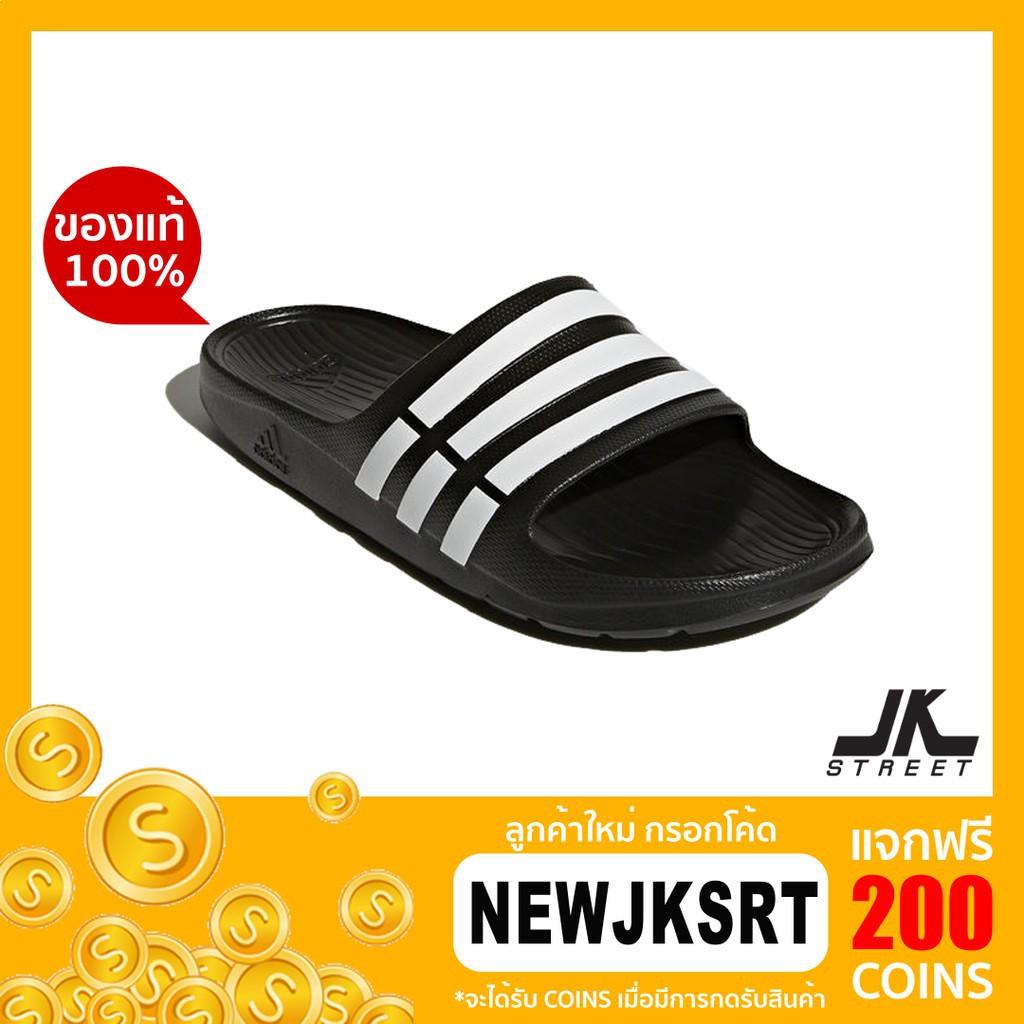 adidas รองเท้าแตะ Duramo Slide รุ่น G15890 (Black/White) ของแท้รองเท้าแตะผู้ชาย  รองเท้าแตะผู้หญิง