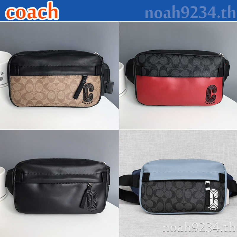 Coach กระเป๋าสะพายสำหรับผู้ชาย / F89918 F3760 F89917 F599 / crossbody bag / กระเป๋ากล้อง / กระเป๋าสะพายข้าง / Waist bag / Belt bag / กระเป๋าคาดอก / กระเป๋าหน้าอก / crossbody bag / Chest bag