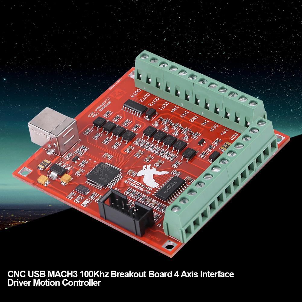 USB MACH 3 100 KW Motion Controller Card Breakout Board