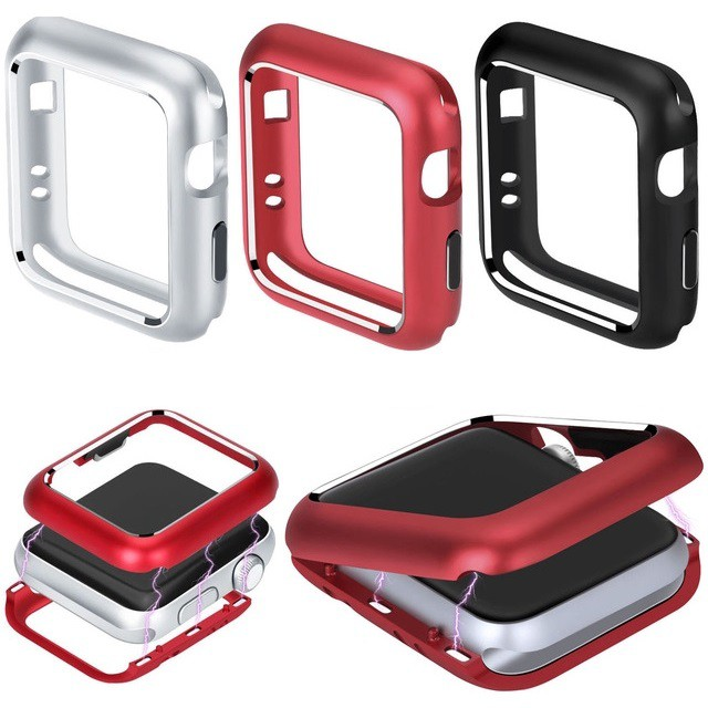 เคส Apple Watch Case Magnetic 38mm 40mm 42mm 44mm Metal Frame Cover สำหรับ iWatch Series SE 6/5/4/3/2/1