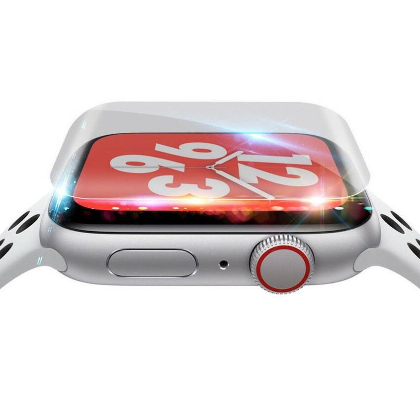 ฟิล์ม เต็มจอ ลงโค้ง โฟกัส ฟิล์ม สำหรับ AppleWatch Sport Series 1 / 2 / 3 / 4 / 5/6 SE Nike s TPU Film Applewatch ฟิล์ม Q