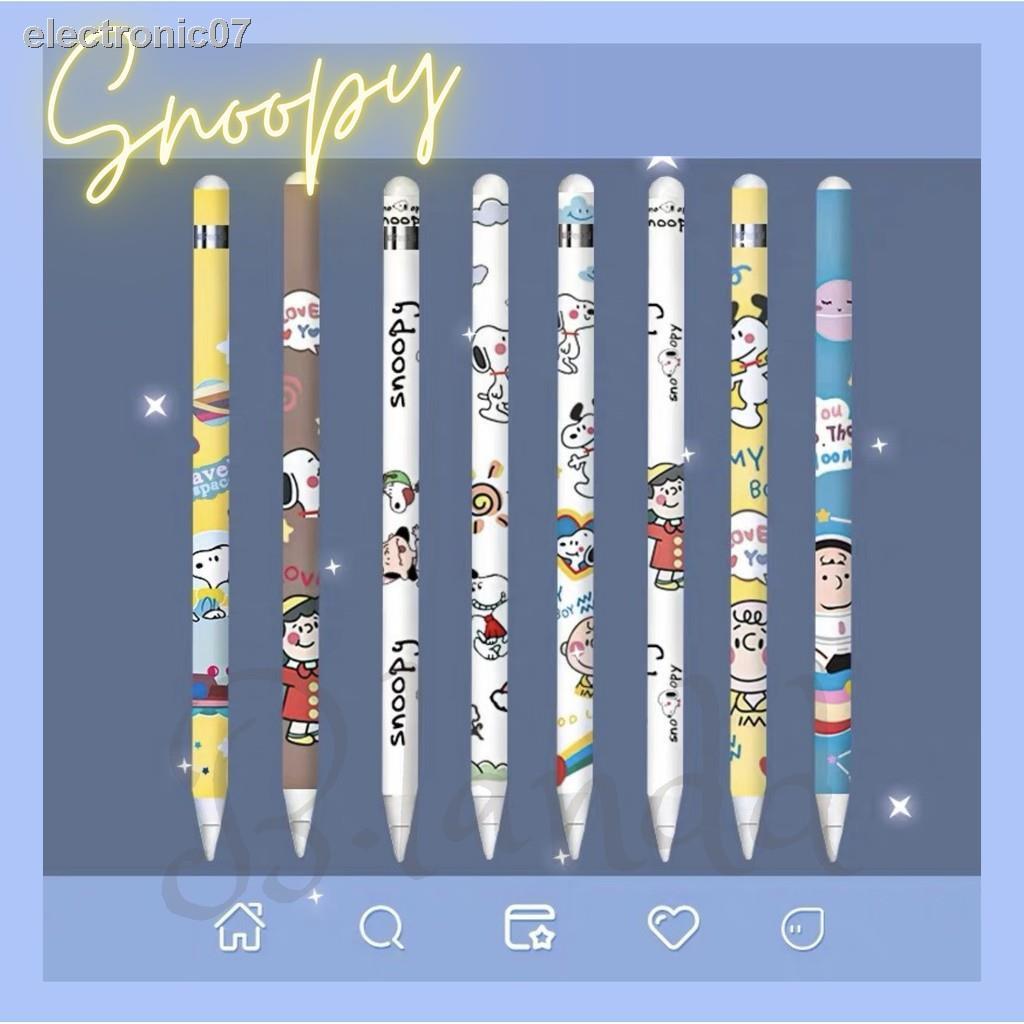 ✐[พร้อมส่ง🚗] ฟิล์มปากกา Apple pencil sticker gen 1/2 set ลายสนูปปี้สุดคิ้วท์✨