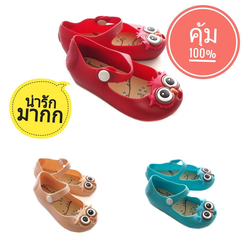 Sustainable รองเท้านกฮูก รองเท้าคัชชูเด็ก รองเท้าเด็กผู้หญิง รองเท้าเด็กลายนกฮูก รองเท้านกฮูกเด็ก รองเท้าเด็กลายการ์ตูนu
