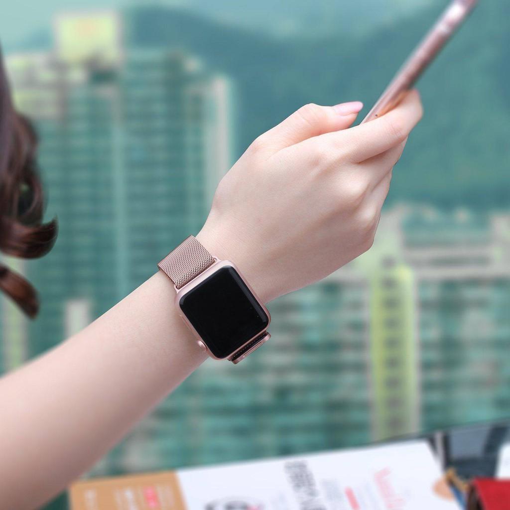 💥 สาย applewatch 🔥 สายนาฬิกา Applewatch ที่ใช้งานได้ iwatch6 / 5/4/3 รุ่นแม่เหล็กสายนาฬิกา Apple Milanese