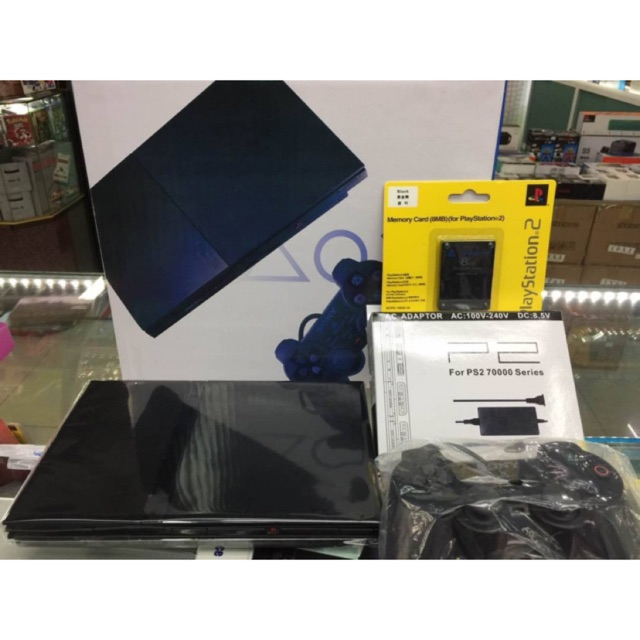 Sony Ps2 Slim มือสอง สภาพ95% แถมแผ่นเกมให้ 4แผ่น
