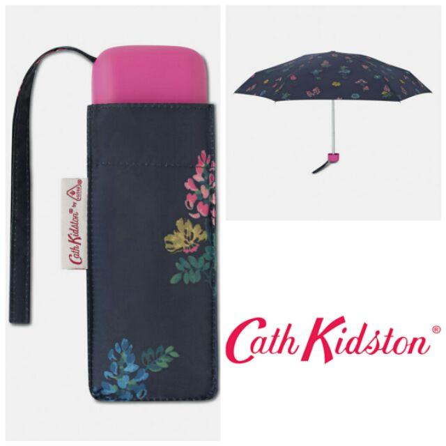 ร่มพับ Cath Kidston กันยูวี สีน้ำเงิน ลายดอกไม้ [ UV UPF 50+ ]