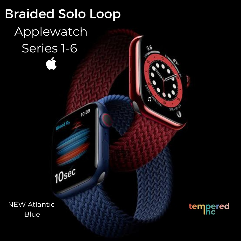 สายนาฬิกา NEW ! Braided Solo Loop Original Polyester Material ( Applewatch Series 1-6 Ready Stock )