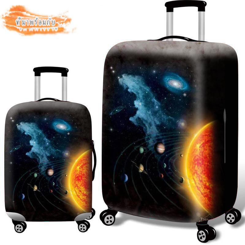 กระเป๋าเดินทางฝาครอบป้องกันกระเป๋าเดินทางliกรณีป้องกัน20ผ้าคลุม26-นิ้ว28ผ้ายืด30หนาค่ะ24ทนต่อการสึกหรอ25กล่องใส่รถเข็นกันฝุ่น