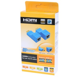 2pcs 1080P HDMI Extender to RJ45 Over Cat 5e/6 Network LAN Ethernet Adapter