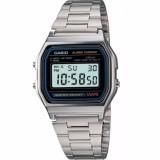 นาฬิกาข้อมือผู้หญิง, แฟชั่นนาฬิกา bgd☃▦CASIO นาฬิกาข้อมือผู้ชาย สีเงิน สายสแตนเลส รุ่น A158WA-1DF1
