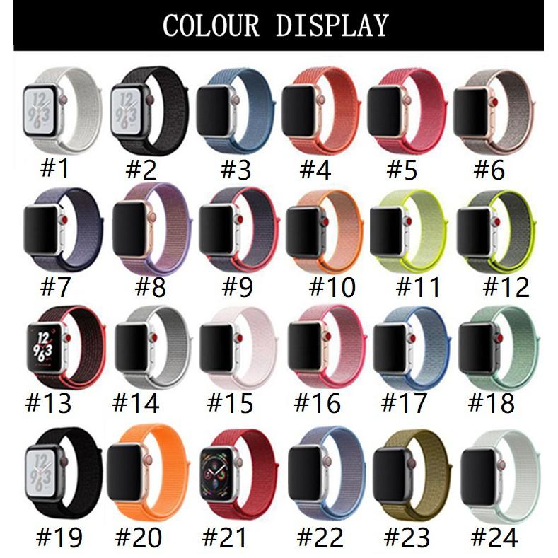 สายนาฬิกา Apple Watch Series 6/5/4/3/2/1, Apple Watch SE Nylon Band Breathable Sport iWatch Strap Replacement Soft Loop