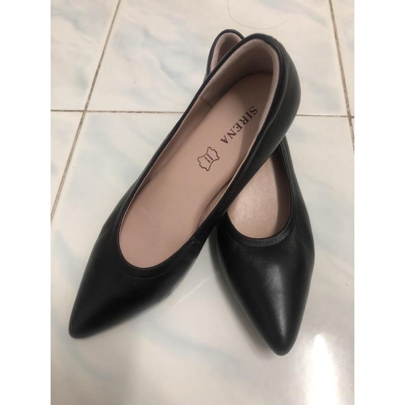 รองเท้าคัชชูผู้หญิงสีดำ แบรนด์SIRENA