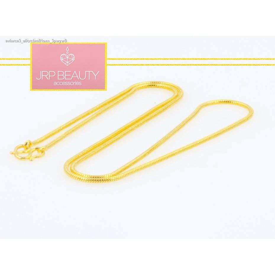 🔥มีของพร้อมส่ง🔥ลดราคา🔥ஐ☁สร้อยคอทองลายกระดูกงูกลมขนาด 1 สลึงยาว 18 นิ้วชุบทองแท้ 24k ผลิตจากช่างฝีมือเยาวราชสินค้าขาย