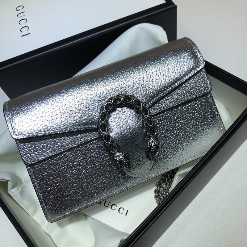 ราคาดีที่สุด GUCCI Dionysus series super mini handbag ของแท้ 16.5*10*4.5cm