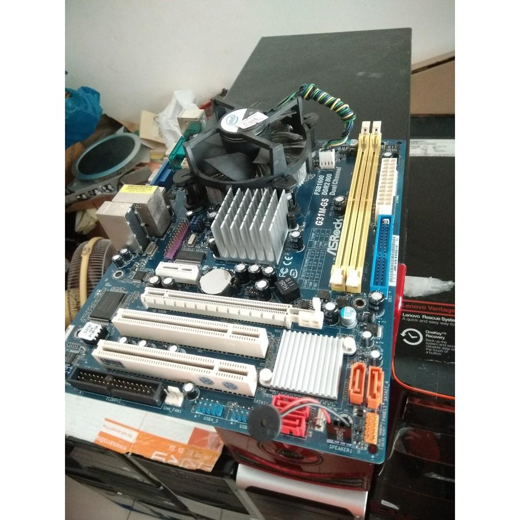 Asrock G31M GS Socket 775 ddr2 พร้อม CPU E5400