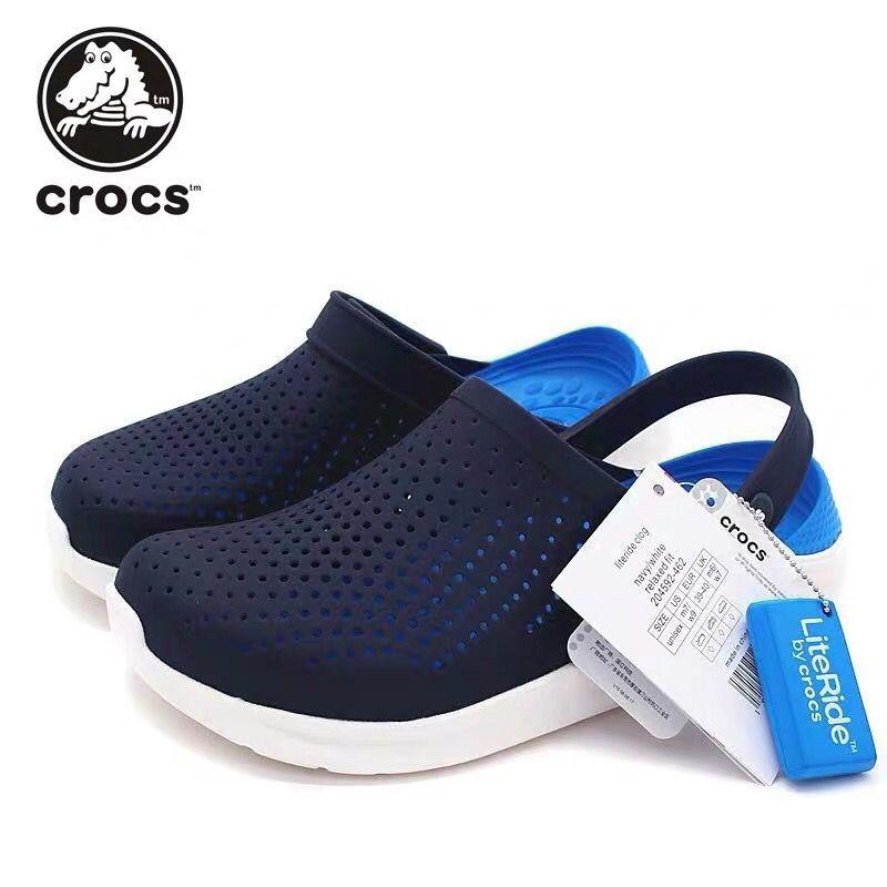 แท้ Crocs LiteRide Clog  หิ้วนอก ถูกกว่าshop รองเท้าแตะผู้ชายรองเท้าแตะรองเท้าแตะรองเท้าผู้หญิงรองเท้าคู่ที่ชายหาดต้นฉบับ
