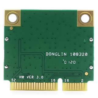 Atheros QCA6174 1200M 2.4G / 5G Dual Frequency Mini PCIE Wireless Network Card + Bluetooth 4.1