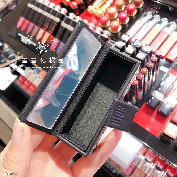 ♦►[เคาน์เตอร์ในประเทศ] Dior Lit Blue Gold Leather Gift Box Lipstick 999 080 Case 22-02